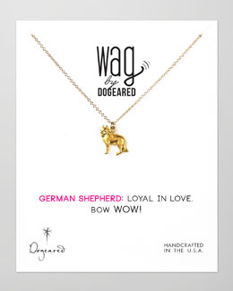 Dogeared 14k Vermeil German Shepherd  Dog Necklace