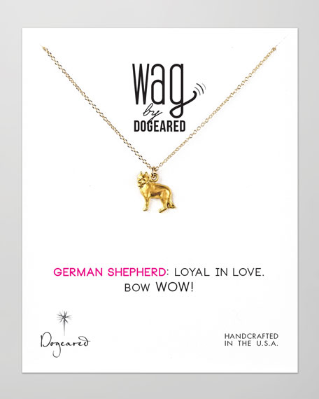 14k Vermeil German Shepherd  Dog Necklace