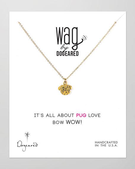 14k Vermeil Pug Dog Necklace