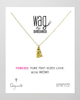 Dogeared 14k Vermeil Yorkie Dog Necklace