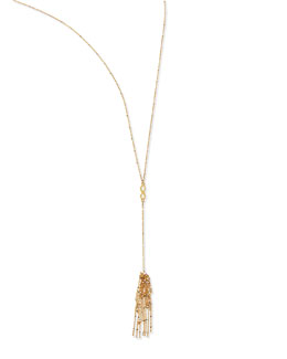 Dogeared Infinity Tassel Necklace, 27""