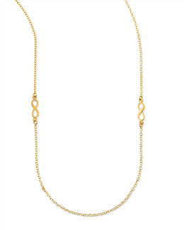 "Dogeared Infinity Charm Layering Necklace, 50""L"