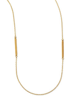 "Dogeared Bar Charm Layering Necklace, 50""L"