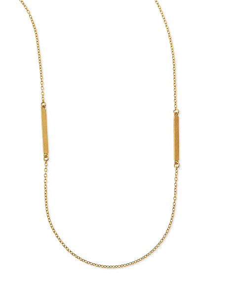 "Bar Charm Layering Necklace, 50""L"