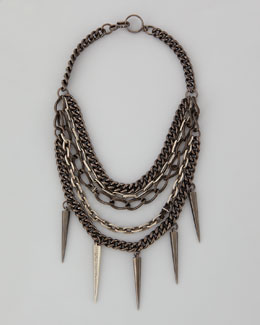 Paige Novick Mixed-Chain Spike Collar Necklace
