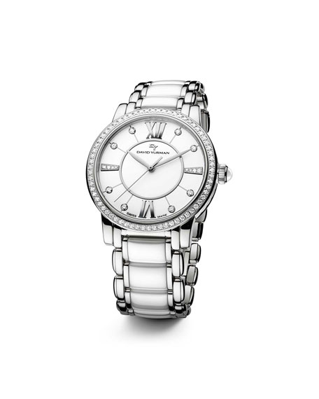 Classic 38mm Quartz, White Ceramic
