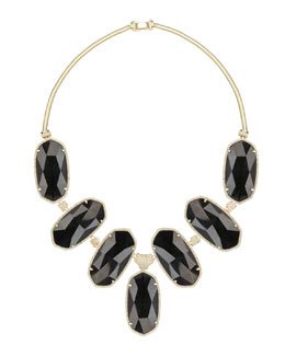 Kendra Scott Luxe Large Black Tourmaline Bib Necklace