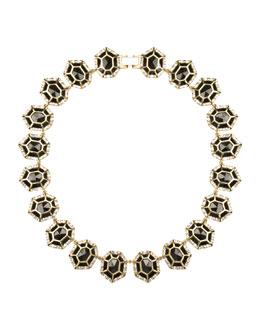 Kendra Scott Luxe Baguette-Trim Black Tourmaline Collar Necklace
