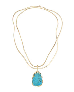 Kendra Scott Luxe Branch-Bezel Pendant Necklace, Turquoise