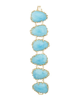 Kendra Scott Luxe Branch-Bezel Bracelet, Turquoise