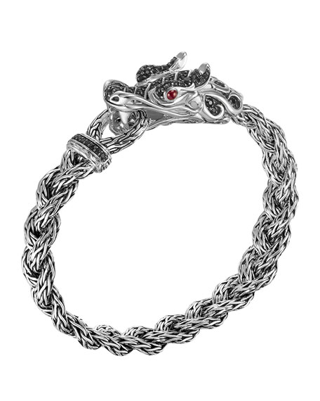 John Hardy Batu Naga Dragon Black Sapphire Bracelet