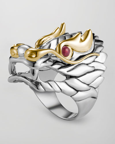 John Hardy Naga Batu Ruby-Eye Dragon Ring