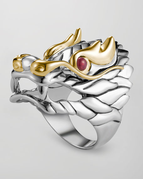 John Hardy Nagger Batu Ruby Eye Dragon Ring Neiman Marcus