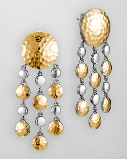 John Hardy Palu Gold/Silver Chandelier Earrings