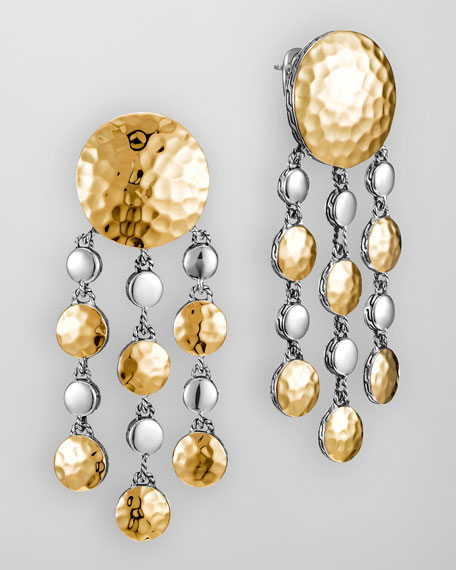 Palu Gold/Silver Chandelier Earrings