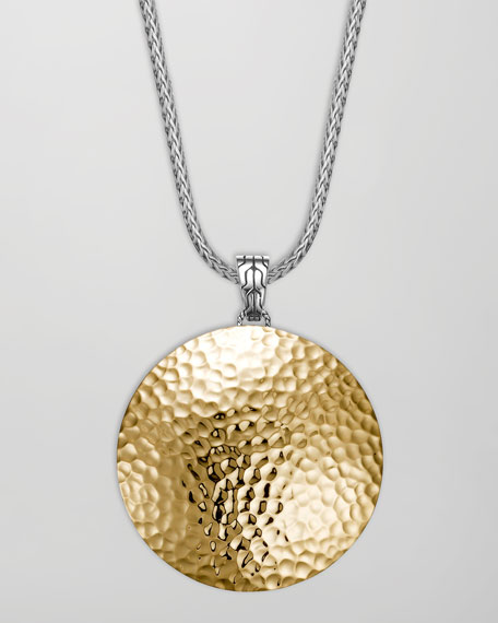 Palu Hammered Gold Enhancer