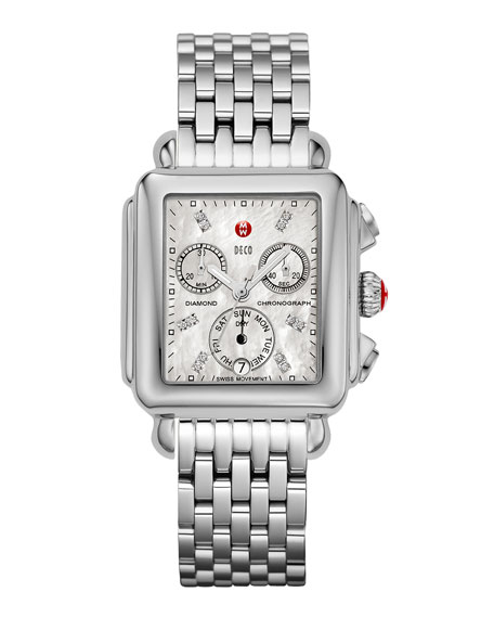 Deco Diamond Stainless Steel Watch Head, Engravable