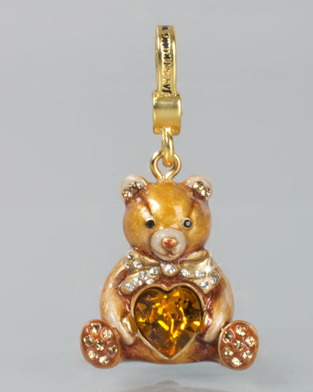 Teddy Bear with Heart Charm