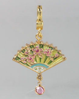 Jay Strongwater Chinoiserie Fan Charm