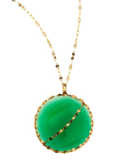 Lana Glow Green Onyx 14k Gold Necklace