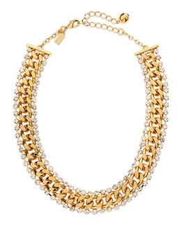 kate spade new york midnight rendezvous necklace, golden