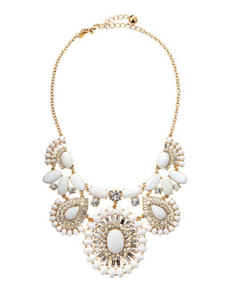 kate spade new york capri garden necklace, white