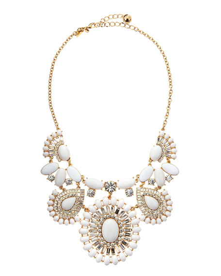 capri garden necklace, white