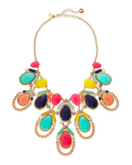 kate spade new york amalfi mosaic necklace, multicolor