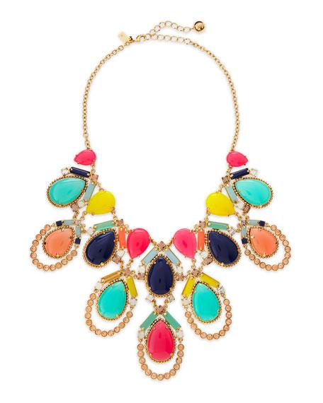 amalfi mosaic necklace, multicolor
