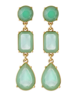kate spade new york riviera garden earrings, turquoise