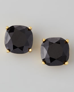 kate spade new york Small Square Stud Earrings, Jet Black