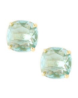 kate spade new york small square stud earrings, blue