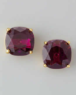kate spade new york Small Square Stud Earrings, Amethyst