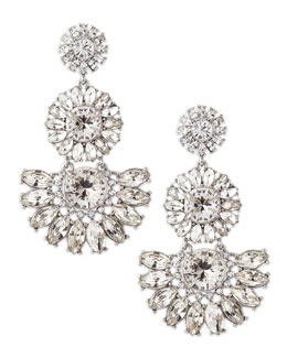 kate spade new york estate garden earrings, white