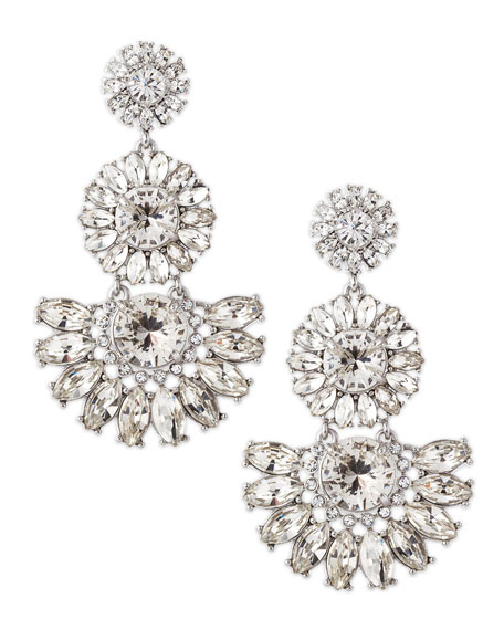 estate garden earrings, white