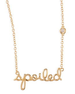 SHY by Sydney Evan Spoiled Bezel-Diamond Necklace