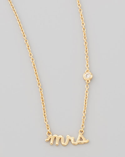 SHY by Sydney Evan Mrs. Bezel-Diamond Pendant Necklace