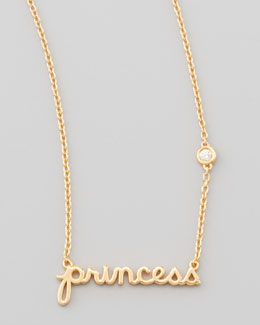 SHY by Sydney Evan Princess Bezel-Diamond Pendant Necklace