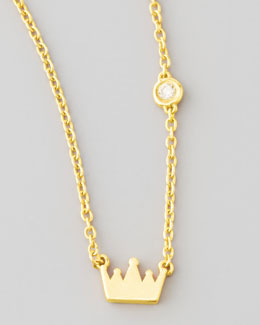 SHY by Sydney Evan Crown Bezel-Diamond Pendant Necklace
