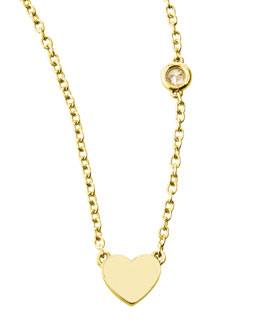 SHY by Sydney Evan Heart Bezel-Diamond Pendant Necklace
