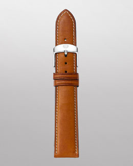 MICHELE 18mm Leather Watch Strap, Light Brown