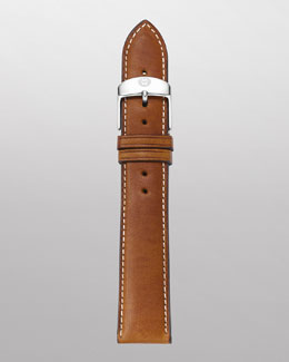 MICHELE 20mm Leather Watch Strap, Light Brown