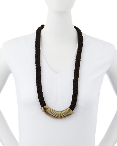 Petra Coil-Wrapped Rope Necklace