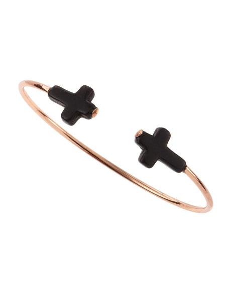 Rose Golden Cross Cuff