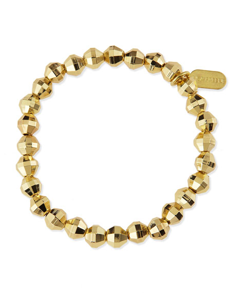 Gina Faceted Bead Bracelet, Gold