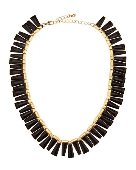 Enamel Fringe Collar Necklace