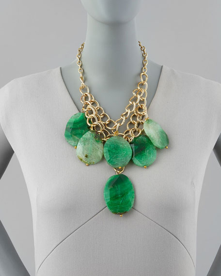 Tiered Agate Statement Necklace