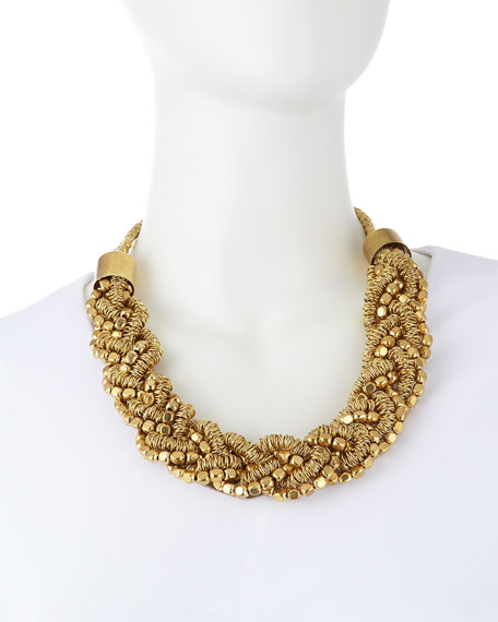 Rosena Sammi Beaded Braided Collar Necklace