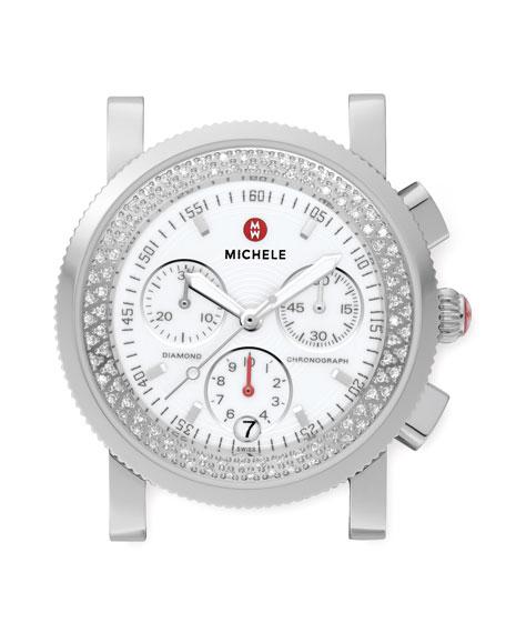 Sport Sail Stainless Steel Diamond Watch Head