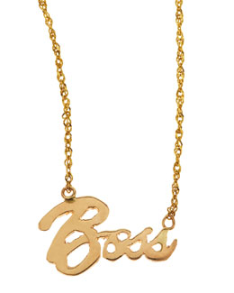 Lana Mini Boss 14k Gold Necklace
